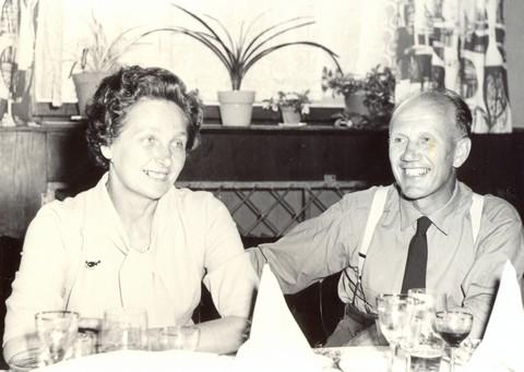 Hajný Kuk s paní hajnou 21. srpna 1965