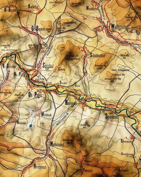 mapa výřez