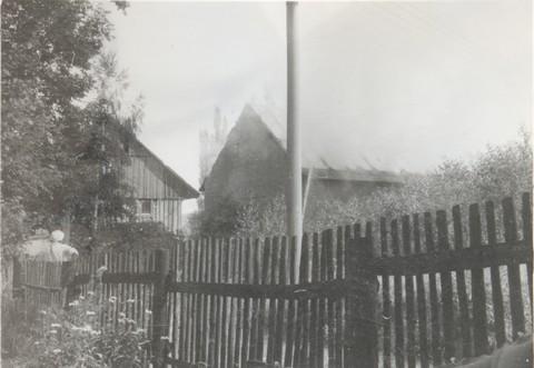 požár stodola
